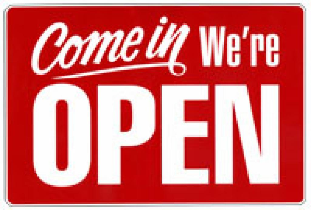 open for business signs